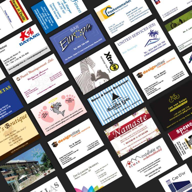 Marysan printing business cards